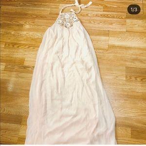 Pretty Long Blush Zara Gown
